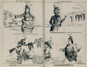 Ilustración publicada en Octubre de 1873. Fuente: University of Miami Libraries