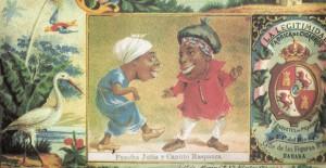 """""""La Boda de Pancha Jutía y Canuto Raspadura"""" (Litografía de Víctor Patricio de Landaluze, Cuba, siglo XIX)"""