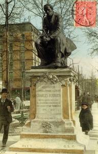 Monumento a Charles Fourier en París (tarjeta postal)