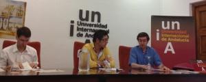 Juan Pro, Rafael Zurita y Gonzalo Capellán durante una de las sesiones del Congreso de La Rábida (2014)