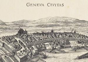 """Anónimo, """"Geneva Civitas"""", pour Pierre Chouet, 1655, Bibliothèque de Genève, Genève."""