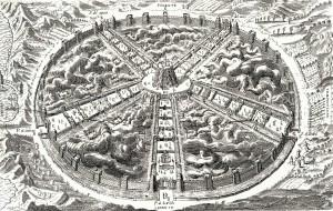 Plano de la Ciudad del Sol (Tomaso Campanella, 1606)